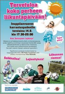 Liikuntapäivä Joupiskalla 14.8.2014